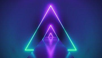 lila-gruene-dreieck-linien