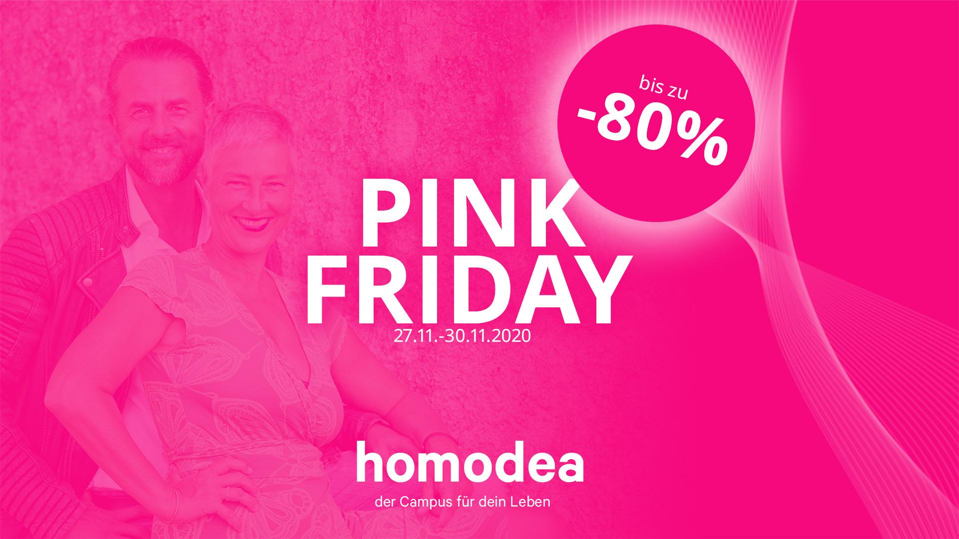 Bis zu 80 Prozent sparen beim Pink Friday auf homodea